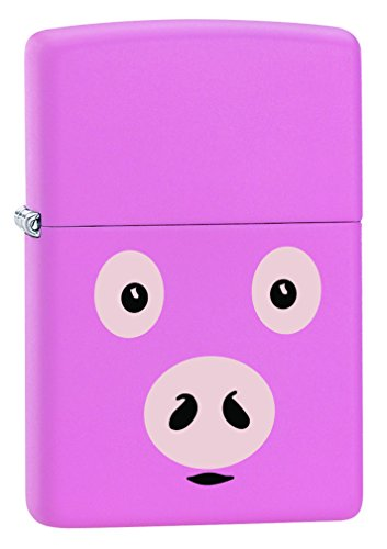 Zippo Lighter: Pink Pig - Pink Matte 77388 (Zippo Pink Matte)