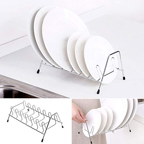 Amazon.com: Best Quality - Racks & Holders - Newest Home Stainless Steel Vertical Dish Bowl Drying Rack Water Drain Stage Holder - by SeedWorld - 1 PCs: Kitchen & Dining