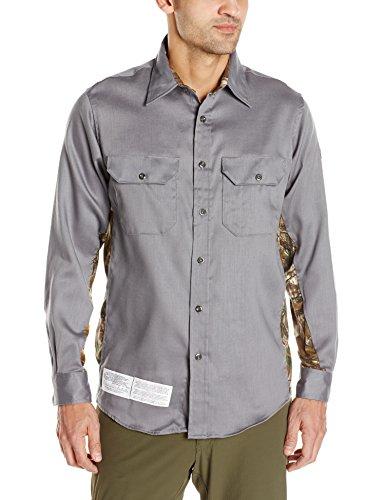 Bulwark Men's Camo Uniform Shirt, Grey, 2X-Large