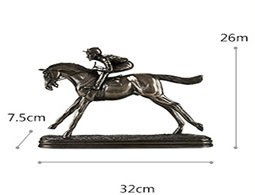 Resin Stone Vase Oil (Fly Creative European horse racing living room interior wine cabinet decorations ornaments Home Decorations)