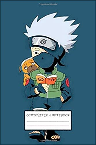 Composition Notebook: Naruto Manga Kakashi Hatake sharingan Itashi Sasuke Obito Soft Glossy Cover College Ruled Lined Pages Book for Boys 6 x 9 Inches 100 Pages