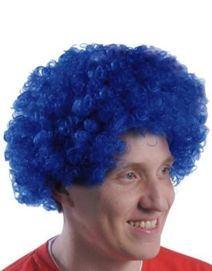 (US Toy Team Spirit Wig Costume, Blue)