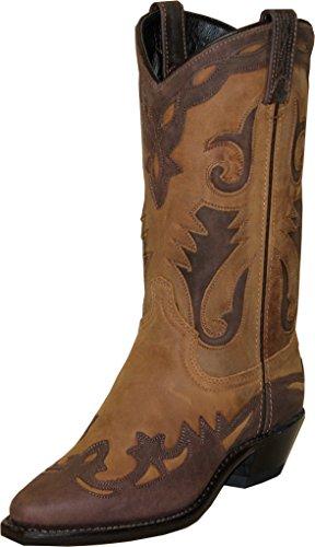 - Sage Boots Ladies Tan Cowhide Cowboy Wingtip 9.5M