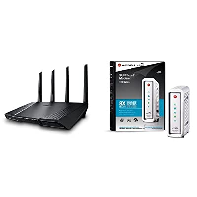ASUS AC2400 Wireless Router (RT-AC87U) and Arris Surfboard Cable Modem (SB6141) Bundle