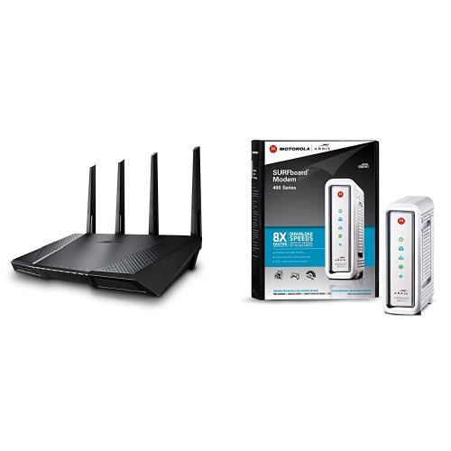 Asus AC2400 Wireless Router (RT-AC87U) and Arris Surfboar...