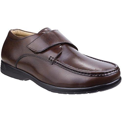 Brown scarpe mocassino Fastening touch amp; Foster Fred Fleet uomo Dual Fit W8Yzvdq07