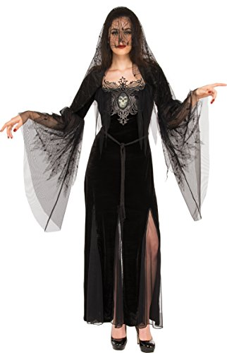 Rubie's Costume Co. Women's Mourning Maiden Costume, Black, Standard