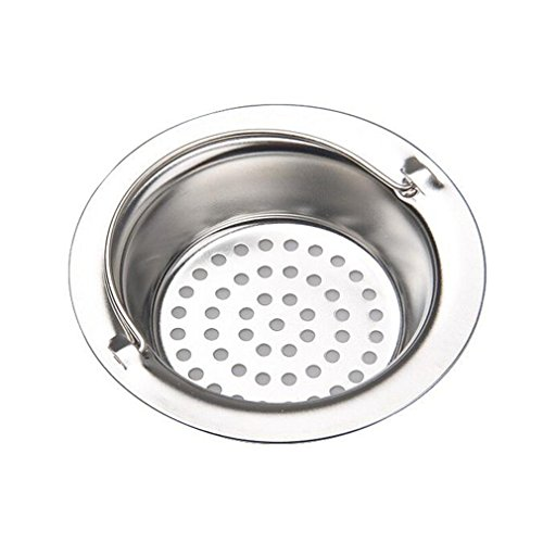 Kitchen Sink Strainer Stainless Steel Sink Drains Strainers Pack of 2 (M) (Install Bowl Sink)
