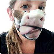 ATRISE 1PC Unisex Adult's Mustache Beard Face Cover Washable Reusable Mask Custom Printed Comfortable for