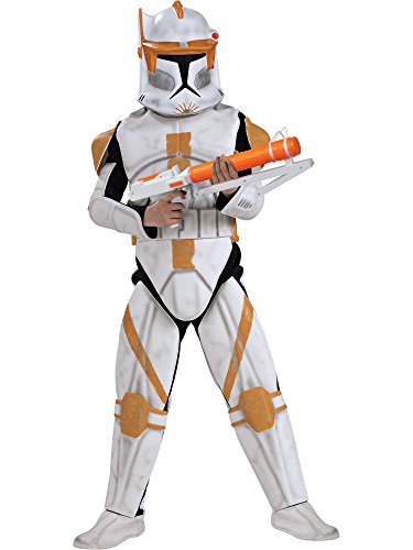 (Rubies Star Wars Clone Wars Child's Clone Trooper Deluxe Commander Cody Costume and Mask,)