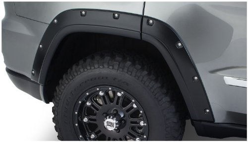 - Bushwacker 10927-02 OE Black Pocket Style Fender Flare for Jeep Grand Cherokee, (Set of 4)