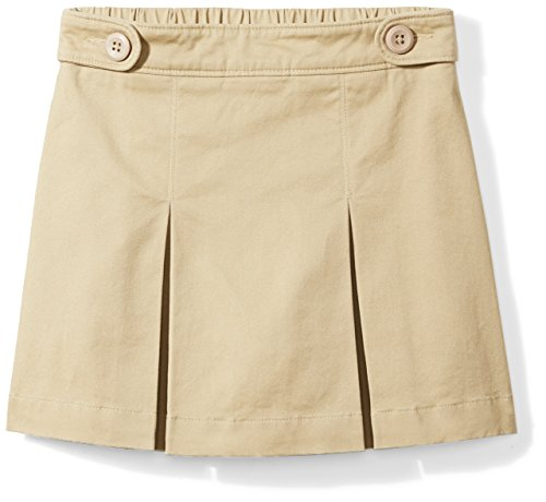 Amazon Essentials Girls' Uniform Skort, Khaki, S (6/7) by Amazon Essentials