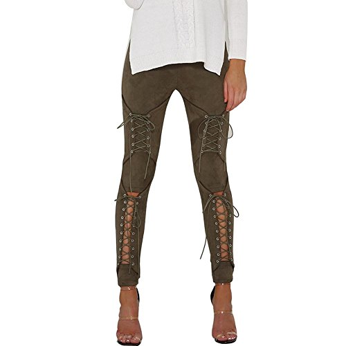 Buy suede lace up pants