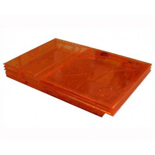 PS2 Slim Flip Top GhostCase Kit - Clear Orange