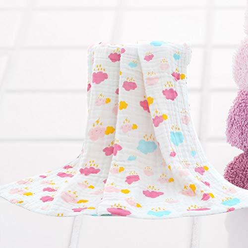 BESTOMEZ Suave bebé recién Nacido Mantas de Gasa niño pequeñas Toallas de baño Impresión de algodón Mantas Swaddle Abrigo de Verano para niños y niñas ...