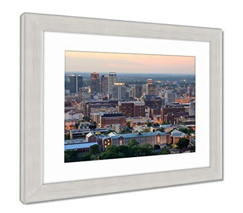 (Ashley Framed Prints Downtown Birmingham, Alabama, Wall Art Home Decoration, Color, 34x40 (Frame Size), Silver Frame, AG32675147)