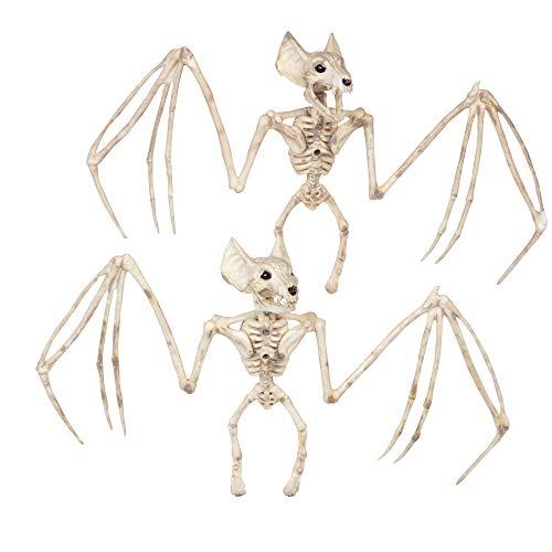 Halloween Bat Skeletons Set of 2-12