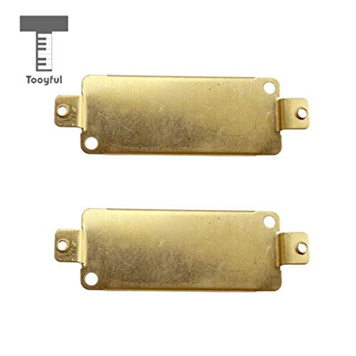 DDV-US - Durable 2 Pieces Mini Brass Guitar Humbucker Pickup Baseplate for Electric Guitar Replacement Accessory (Humbucker Rhythm)