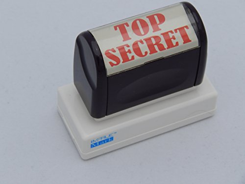 TOP SECRET iMprueMark's Pre-Inked Stock stamp for office & personal use RED ink