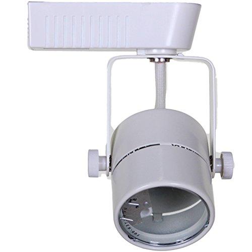 Led Track Light Head White: Direct-Lighting 50010 White MR16 Cylinder Low Voltage