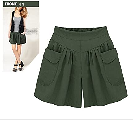 2XL, Navy Hot Sale Drawstring Shorts Thenlian Women Plus Size Solid Loose Hot Pants Pockets Lady Summer Casual Shorts