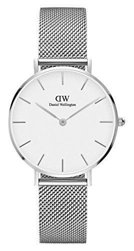 Reloj de pulsera daniel wellington dw00100164 Mujer, relojes con esfera ovalada blanco y correa acero