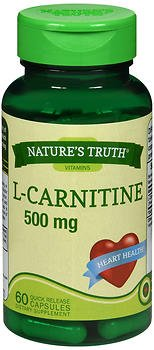 Nature's Truth L-Carnitine 500 mg Plus CoQ-10 Dietary Supplement, 60 Count