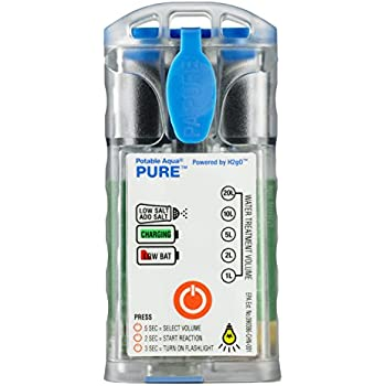 Potable Aqua PURE Water Purifier, Portable Electrolytic Drinking Water Treatment Device