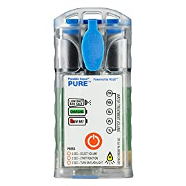 Potable Aqua Pure Water Purifier, Portable Electrolytic Drinking Water Treatment Device 88 Potable Aqua PURE inactivates viruses,bacteria, Giardia and Cryptosporidium killing 99.9% of all organisms without the need to pre-filter or pump Easily select the volume of water you want to treat from 1 to 20 liters - 60,000 liters of lifetime capacity Potable Aqua Pure device activates a simple brine (salt and water) solution to produce a mixed oxidant disinfectant