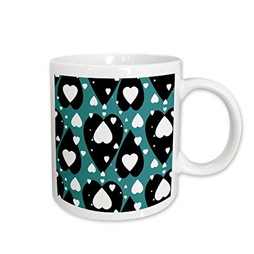 East Urban Home Small Hearts Floating Over Big Black Hearts Coffee Mug from east urban home