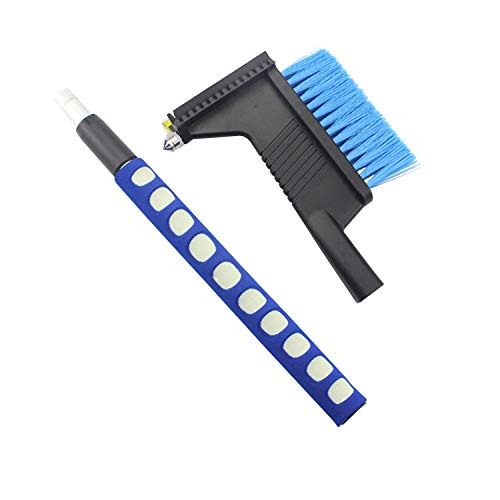 """34\"""" Extendable Car Snow Removal Broom Brush & Ice Scraper with Safety Hammer, Frost Broom Cleaner for Car Auto SUV Truck Window & Windshield Tool 81BD61Tay7L"""
