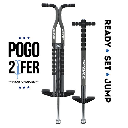 New Bounce Soft, Easy Grip Sport Pogo Stick- 2 Pack Combo set (One of two is Pro) by New Bounce