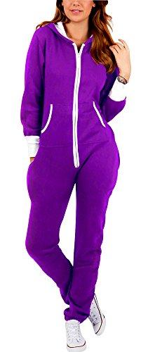 SkylineWears Women's Ladies Onesie Hoodie Jumpsuit Playsuit X-Large Purple