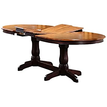 "Iconic Furniture Oval Dining Table, 42"" x 90"", Whiskey Mocha Finish"