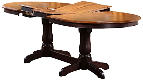 Iconic Furniture Oval Dining Table, 42' x 90', Whiskey Mocha Finish