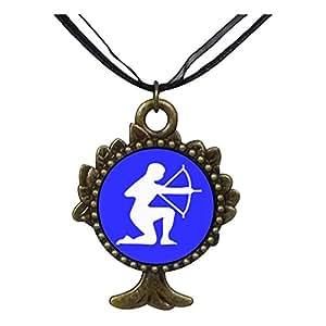 Chicforest Bronze Retro Style Sagittarius Zodiac The Tree Of Life And Wishing Pendant