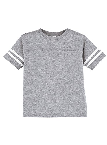 Rabbit Skins 100% Cotton Blank Toddler Football Jersey Tee [Size 4T] Heather / White Short Sleeve T-Shirt