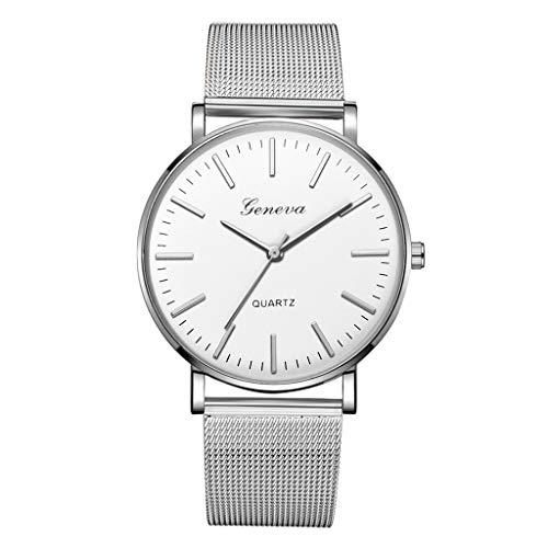 LUCAMORE Mens Quartz Watch,Luxury Temperament Minimalist Business Analog Wrist Watches Mesh Stainless Steel ()