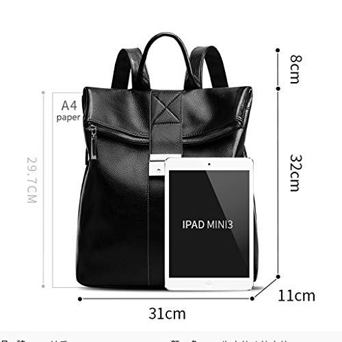 2018 Korean Bag Female Leather Tide New Soft theft Backpack Anti Large Wild Ladies Version Casual Capacity qPZqS
