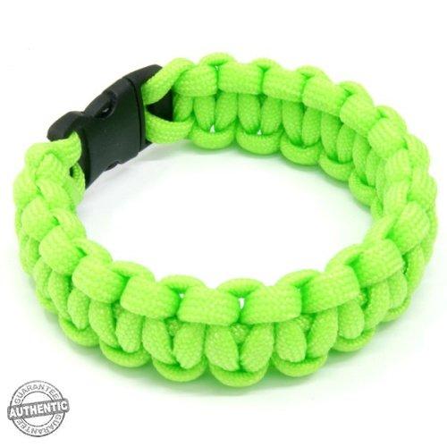 """Paracord 550 Survival Bracelet 7.5"""" (Neon Green)"""