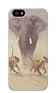 IPhone 6/6S Case Elephant chasing off attacking lions 3D Custom IPhone 6/6S Case Cover wangjiang maoyi