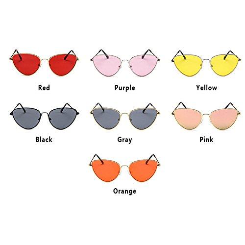 style series sunglasses Cat personality Hzjundasi Style Retro frame eye Red MOD metal Full 4P64gqfcZ