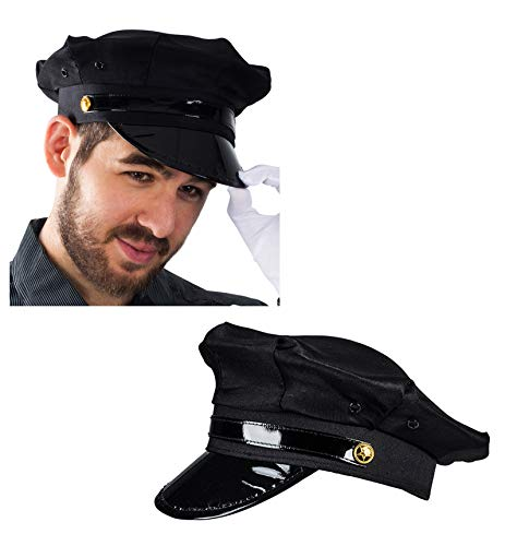 Funny Party Hats Chauffeur Hat - Limo Driver Hat - Police Hat - Costume Hats Black ()