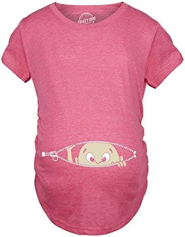 تی شرت خنده دار بارداری کودک Peeking T ، برای انتظار مادران