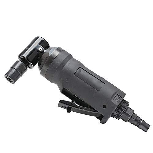 (Pneumatic Grinding Machine Polishing Tool Polishing Machine/Sandpaper Machine Cleaning Finishing, Car Maintenance, Removing Rust,18000rpm,L type,Black)