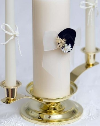 Wedding Collectibles Cowboy Hat Western Unity Candle Set: Candle Color: White by Wedding Collectibles