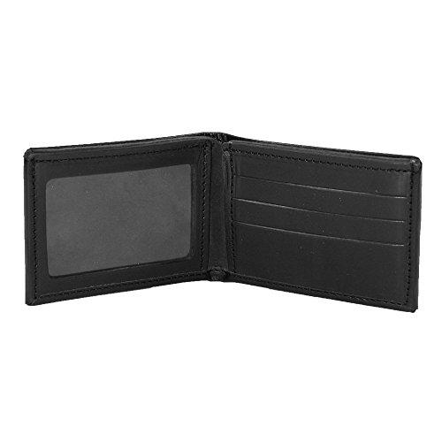 Boston Leather Black Billfold Boston Leather Wallet Men's Smooth Leather gxdwg