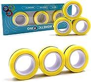 JACHAM Magnetic Ring Fidget Spinner Toy, Finger Magnetic Ring,Magnetic Fingertip Toys,Stress Relief Magic Brac
