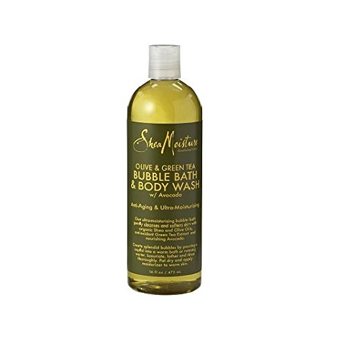 Shea Moisture Olive & Green Tea Bubble Bath & Body Wash 16 oz