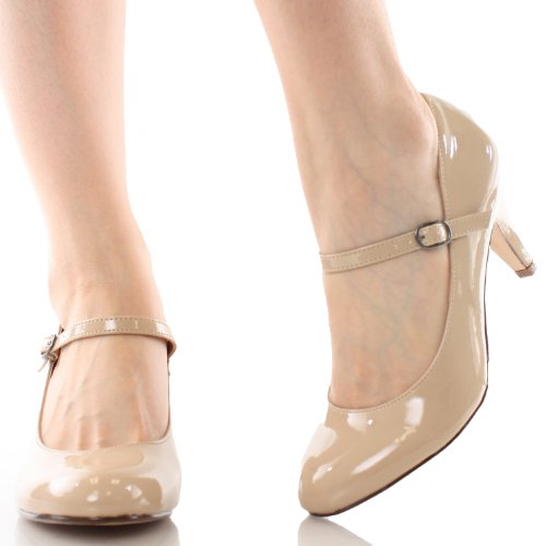 Sullys Kaylee-h Mary-jane Pumps-shoes Beige